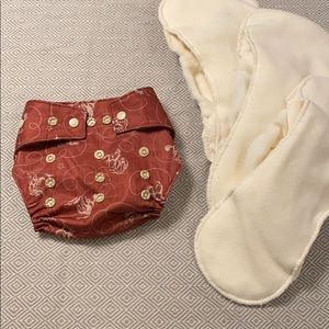 NWOT Grovia cloth diaper shell & inserts